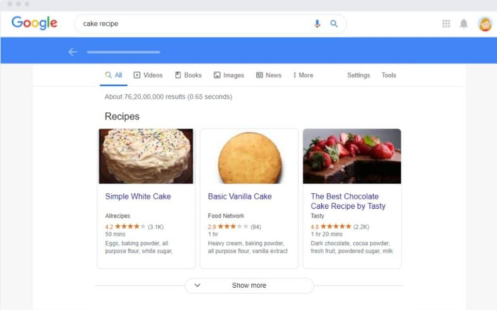 google search engine Relevancy (सम्बंधित)