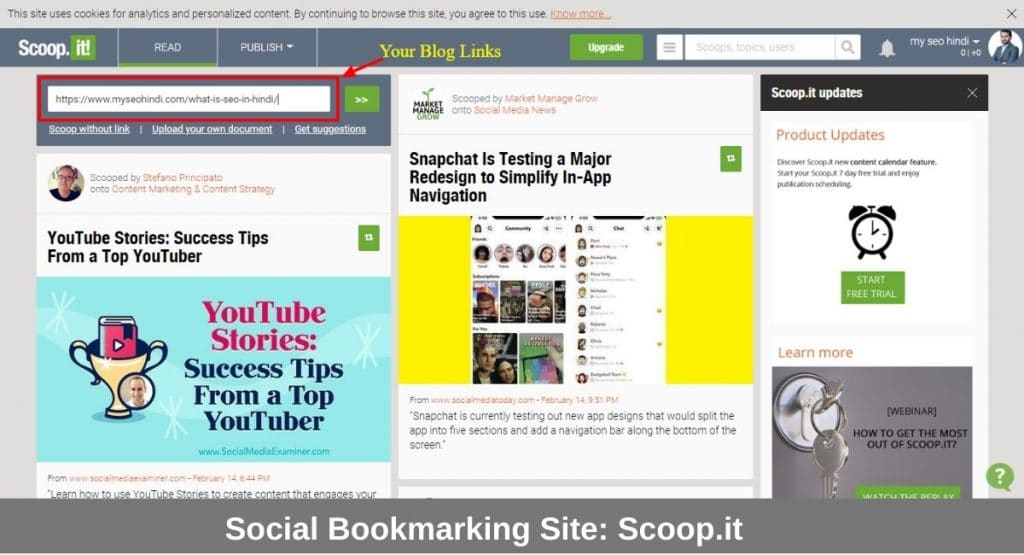 Social Bookmarking link bulding strategy in hindi