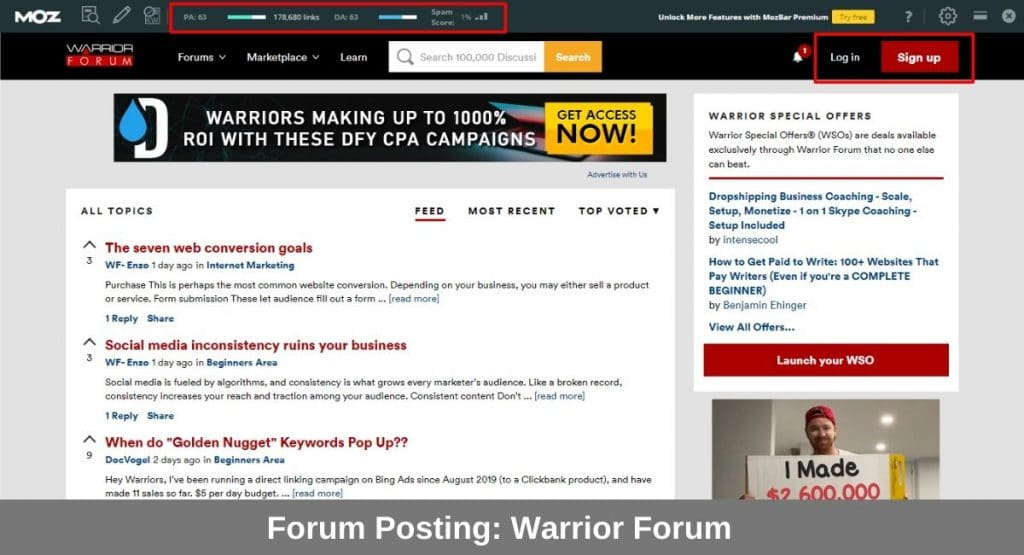 forum posting link bulding techniques in hindi