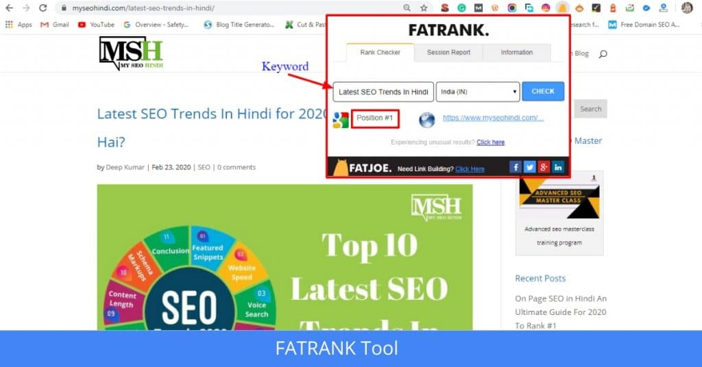 FATRANK SEO Tools In Hindi